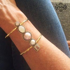 Sara Blaine/eSBe Dreams Pink Mabe' Cuff Bracelet